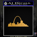 St Louis Arch Decal Sticker Gold Metallic Vinyl 120x120