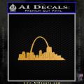 St Louis Arch Decal Sticker Gold Metallic Vinyl 120x120