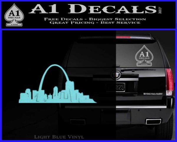 St louis arch decal sticker light blue vinyl 120x97
