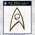 Star Trek Decal Sticker – Engineering Brown Vinyl 120x120