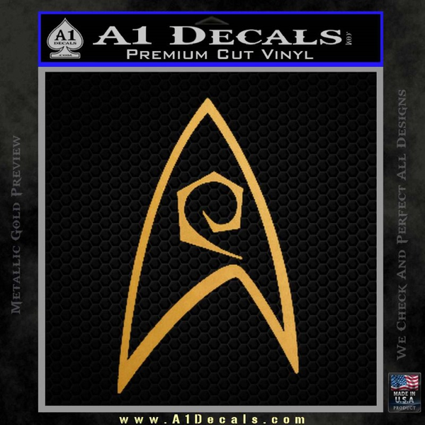 Star Trek Decal Sticker – Engineering Gold Metallic Vinyl
