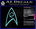 Star Trek Decal Sticker – Engineering Light Blue Vinyl 120x97