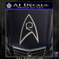 Star Trek Decal Sticker – Engineering Metallic Silver Vinyl 120x120