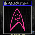 Star Trek Decal Sticker – Engineering Neon Pink Vinyl 120x120