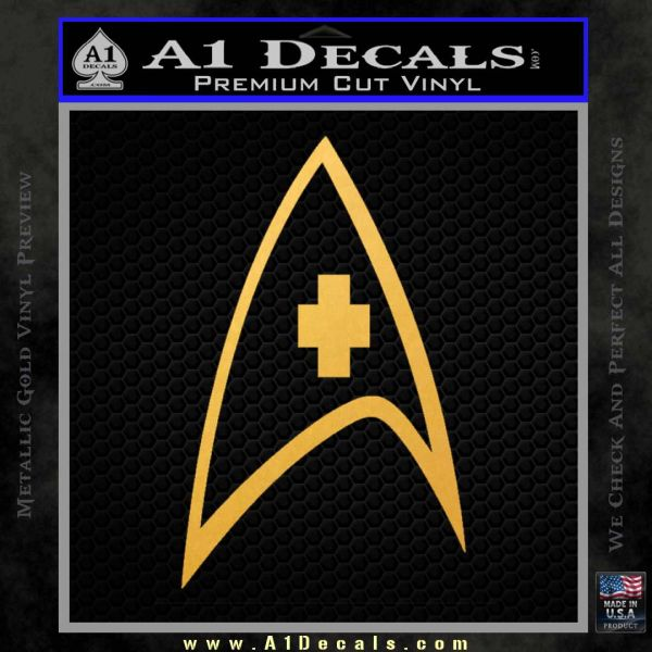 Star Trek Decal Sticker – Medical Decal Sticker Gold Vinyl