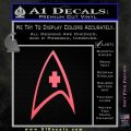 Star Trek Decal Sticker – Medical Decal Sticker Pink Emblem 120x120