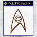 Star Trek Decal Sticker – Sciences Brown Vinyl 120x120