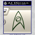 Star Trek Decal Sticker – Sciences Dark Green Vinyl 120x120