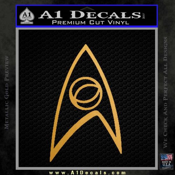Star Trek Decal Sticker – Sciences Gold Metallic Vinyl