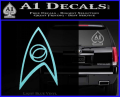 Star Trek Decal Sticker – Sciences Light Blue Vinyl 120x97