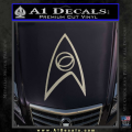 Star Trek Decal Sticker – Sciences Metallic Silver Vinyl 120x120