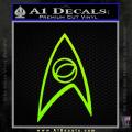 Star Trek Decal Sticker – Sciences Neon Green Vinyl 120x120