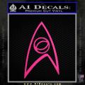 Star Trek Decal Sticker – Sciences Neon Pink Vinyl 120x120