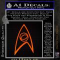 Star Trek Decal Sticker – Sciences Orange Emblem 120x120