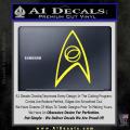 Star Trek Decal Sticker – Sciences Yellow Vinyl 120x120