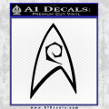 Star Trek Decal Sticker Black – Engineering Vinyl 120x120