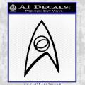 Star Trek Decal Sticker Black – Sciences Vinyl 120x120