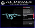 Star Trek Enterprise Decal Sticker 3D Light Blue Vinyl 120x97