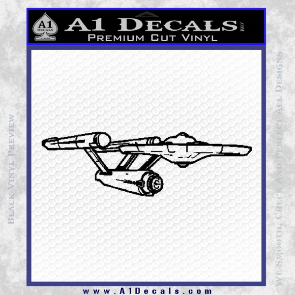 Star Trek Enterprise Decal Sticker Black 3D Vinyl