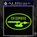 Star Trek Enterprise Decal Sticker Euro Neon Green Vinyl 120x120
