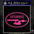 Star Trek Enterprise Decal Sticker Euro Neon Pink Vinyl 120x120