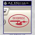 Star Trek Enterprise Decal Sticker Euro Red Vinyl 120x120