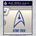 Star Trek Full Emblem Decal Sticker Blue Vinyl 120x120