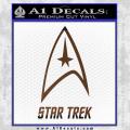 Star Trek Full Emblem Decal Sticker Brown Vinyl 120x120