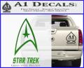 Star Trek Full Emblem Decal Sticker Green Vinyl 120x97
