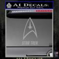 Star Trek Full Emblem Decal Sticker Grey Vinyl 120x120