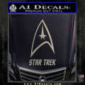 Star Trek Full Emblem Decal Sticker Metallic Silver Vinyl 120x120
