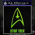 Star Trek Full Emblem Decal Sticker Neon Green Vinyl 120x120