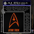 Star Trek Full Emblem Decal Sticker Orange Emblem 120x120