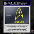 Star Trek Full Emblem Decal Sticker Yellow Vinyl 120x120