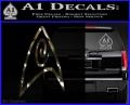 Star Trek Insignia Engineering Decal Sticker 3DC Vinyl 120x97