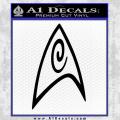 Star Trek Insignia Engineering Decal Sticker Black Vinyl 120x120