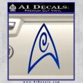 Star Trek Insignia Engineering Decal Sticker Blue Vinyl 120x120