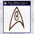 Star Trek Insignia Engineering Decal Sticker Brown Vinyl 120x120