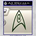 Star Trek Insignia Engineering Decal Sticker Dark Green Vinyl 120x120