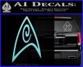 Star Trek Insignia Engineering Decal Sticker Light Blue Vinyl 120x97