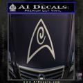 Star Trek Insignia Engineering Decal Sticker Metallic Silver Vinyl 120x120