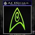 Star Trek Insignia Engineering Decal Sticker Neon Green Vinyl 120x120