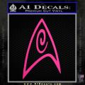 Star Trek Insignia Engineering Decal Sticker Neon Pink Vinyl 120x120