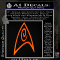 Star Trek Insignia Engineering Decal Sticker Orange Emblem 120x120