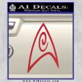 Star Trek Insignia Engineering Decal Sticker Red Vinyl 120x120