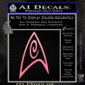 Star Trek Insignia Engineering Decal Sticker Soft Pink Emblem 120x120