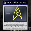 Star Trek Insignia Engineering Decal Sticker Yellow Vinyl 120x120