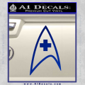 Star Trek Insignia Medical Decal Sticker Blue Vinyl 120x120