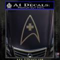 Star Trek Insignia Medical Decal Sticker CFC Vinyl 120x120