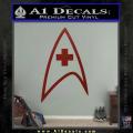 Star Trek Insignia Medical Decal Sticker DRD Vinyl 120x120